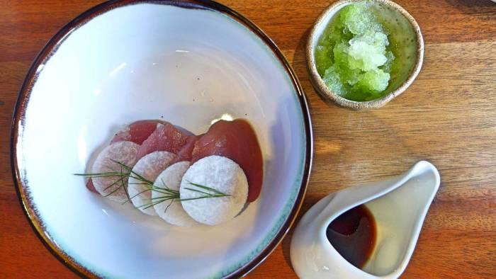 The Pig & Palm tuna sashimi