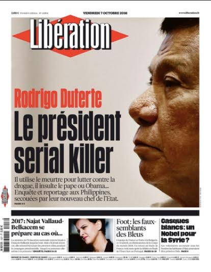 UNFAIR. The Commission on Human Rights 7 says it is unfair and premature for a French newspaper to pin the extra judicial killings on Duterte.