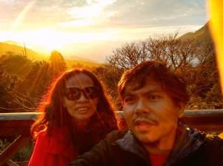 Selfie spot. Whether for sunrise or sunset, Alishan is a selfie hotspot.