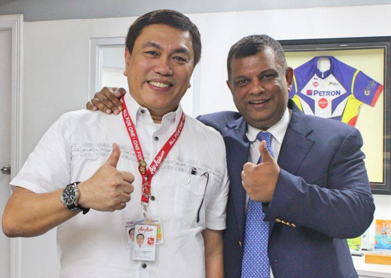 Philippines AirAsia Dexter Comendador and Tony Fernandes