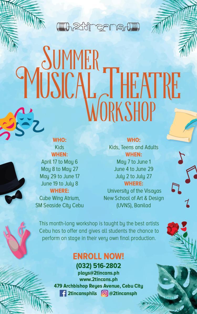 2TinCans Summer Musical Theatre Workshops