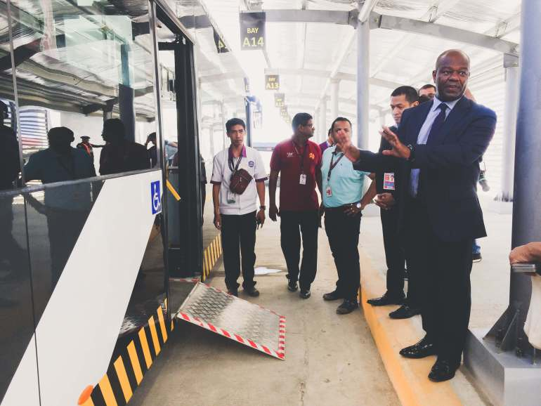Mactan Cebu International Airport arrivals pick-up zone