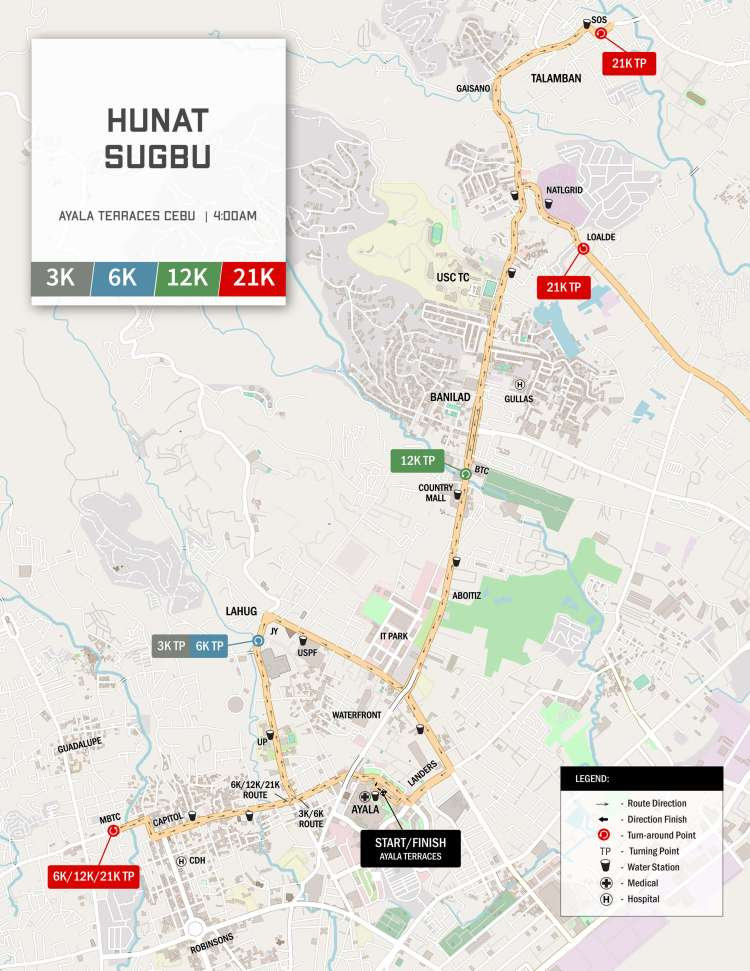 Hunat Sugbo Race Routes