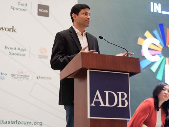 Anthony Thomas speaking at the ADB In_Pact Asia 2019 - Convening for Collective Impact