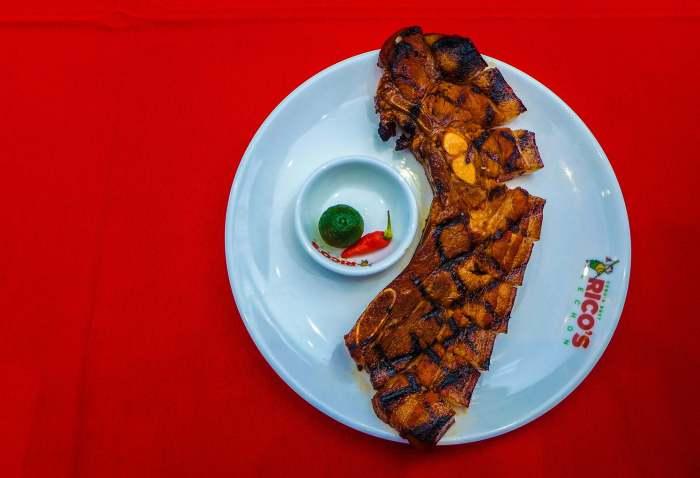 Rico's lechon grilled pork liempo
