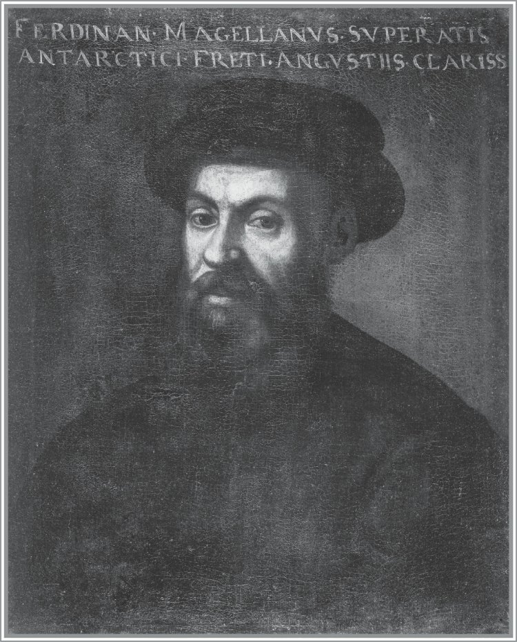 """FERDINAND MAGELLAN. This portrait of the Portuguese explorer and captain of the Armada de Molucca is """"believed to be one of the few accurate likenesses of Magellan,"""" wrote historian Laurence Bergreen in his book Over the Edge of the World."""