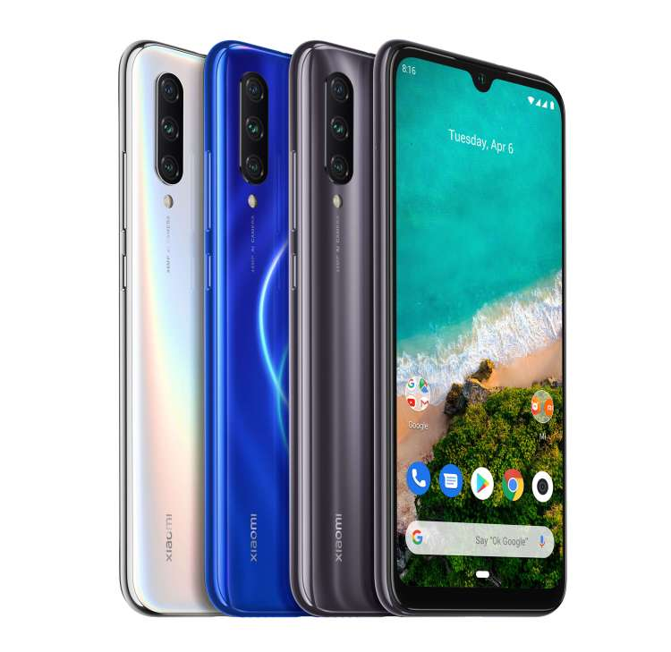 """MI A3 CAMERA. Mi A3 sports a triple camera setup on the back with 48MP main lens and a large 1/2"""" sensor for ultra-high-resolution day photos. Its 8MP ultra-wide angle lens intelligently detects when users are shooting large images and recommends when to switch to ultra-wide angle mode for a more optimal shot."""