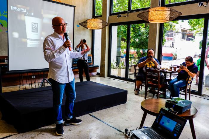 BETTER EXPERIENCE. Bo's Coffee founder Steve Benitez says they deployed Facebook Messenger chatbot to enhance the experience of their customers.