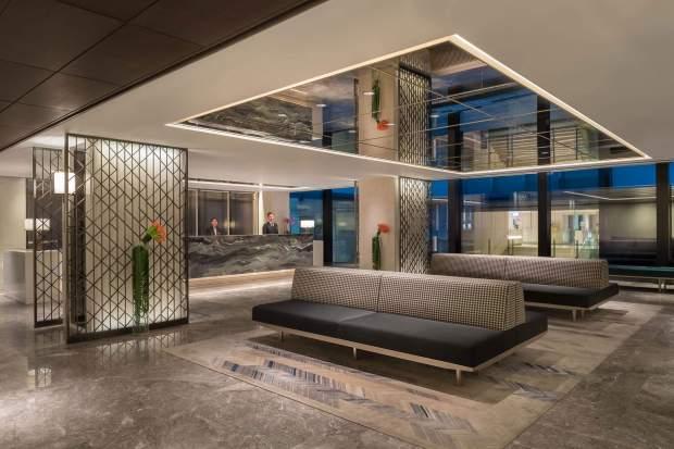 The Prince Hotel lobby.