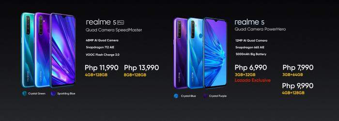 real me 5 and real me 5 pro prices