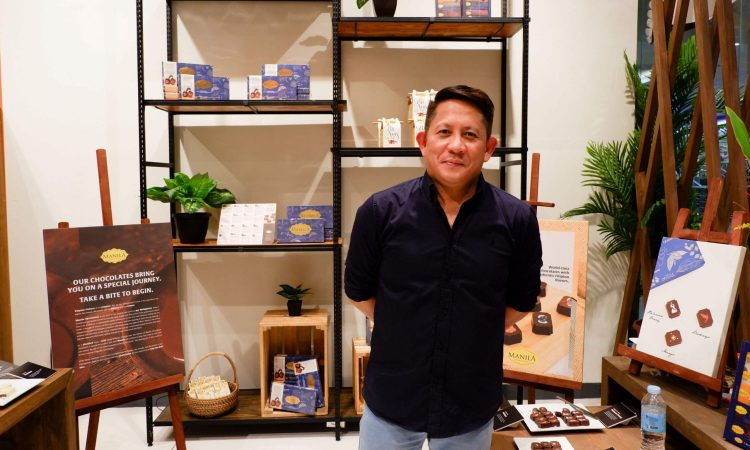 RAUL MATIAS, owner and founder of Manila Chocolatier, said that his chocolates promote Philippine culture by highlighting distinct local flavors.
