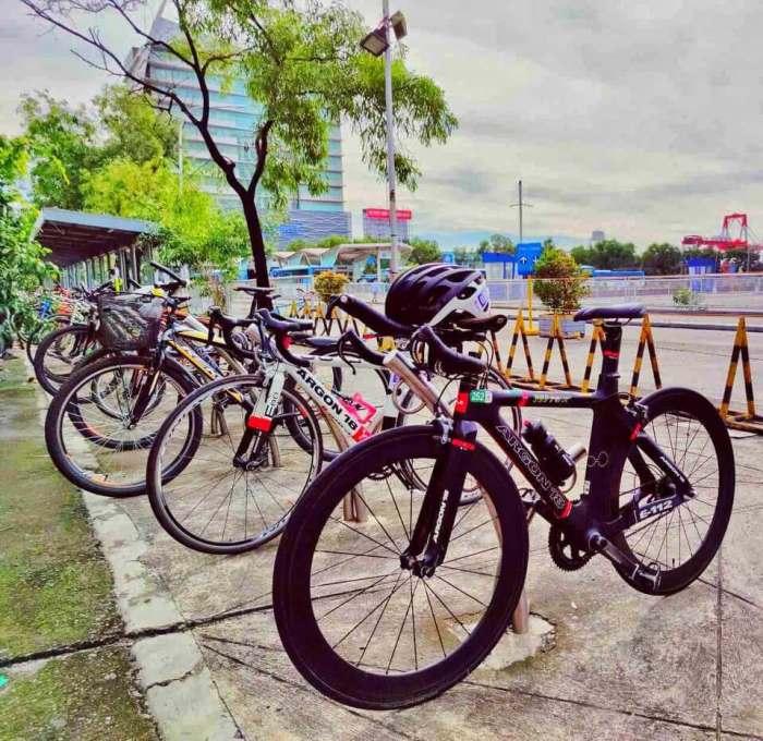 SM City Cebu bike racks.