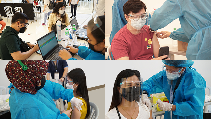 EastWest continues to vaccinate their employees through the FilVax vaccination program at the CRK Vaccination Center in Clark International Airport and Festival Mall in Muntinlupa.