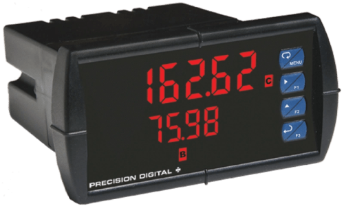 Precision Digital PD6262 ProVu Dual Analog Input Flow Rate/Totalizer