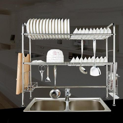nex dish rack stainless steel 2 tier dish drainer double grooves