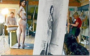 Figure Drawing Session with Nude Model