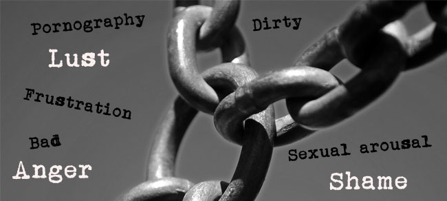 Image result for chained to sin
