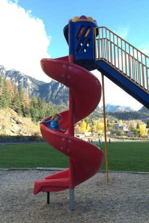 She was terrified of slides until recently!