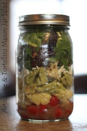 Artichoke & Tortellini Mason Jar Salad