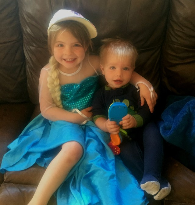 This is the pic their Dad sent me of them while I was gone. I love those kids so much! <3