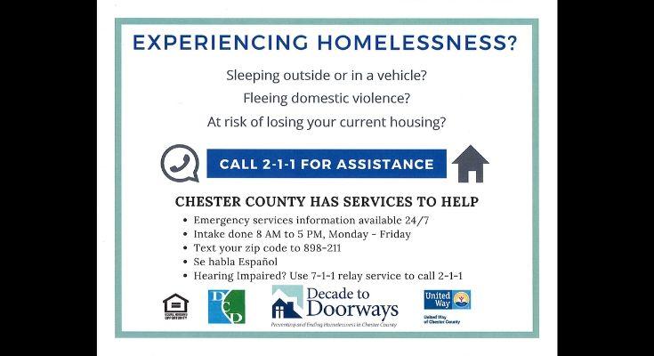 Chester County Announces New 2-1-1 Homeless Call Center