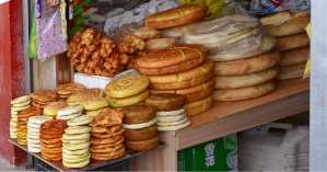 Breads for sale in Xiahe