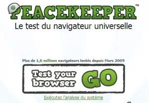 Peacekeeper universel et gratuit test de navigateur pour HTML5 de Futuremark