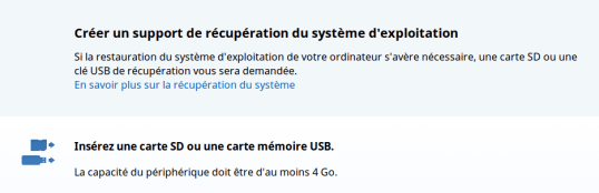 Recovery système pour chromebook