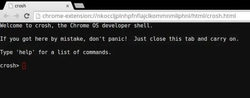 Crosh terminal ChromeOS