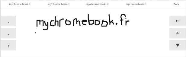 clavier virtuel manuscrit C720P