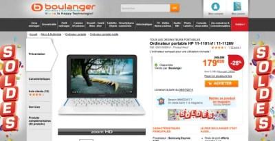 SOLDES : LE CHROMEBOOK HP11 A 179€.