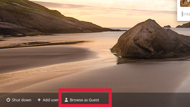 Mode invité sur Chromebook