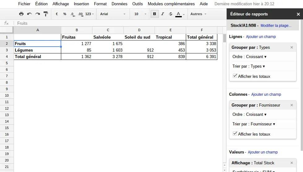Les Tableaux Croises Dynamiques Sur Google Sheet Mychromebook Fr