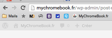 favicon favoris chrome