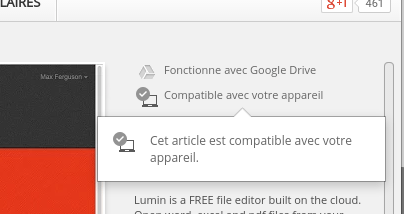 Compatibilité Chrome web store
