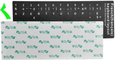 Stickers Clavier AZERTY