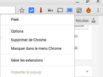Supprimer de Chrome une extension