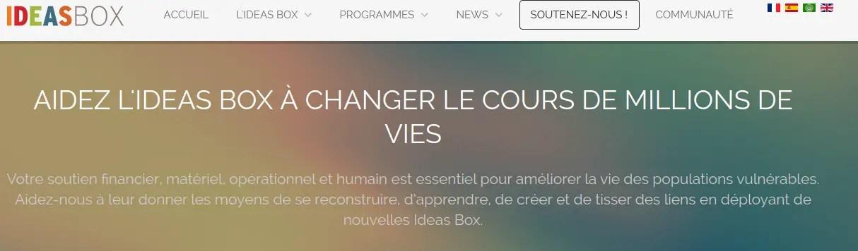 Soutenir Ideas Box