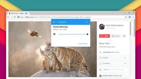 Chrome Castera nativement vos pages internet sans extension