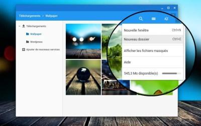 Créer un dossier dans l'application fichiers de Chrome OS