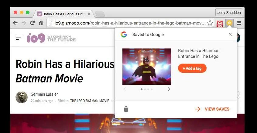 Save to Google sur Chromebook