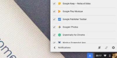 Chrome OS améliore la visibilité des notifications