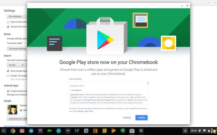 google play est arriv sur chromebook. Black Bedroom Furniture Sets. Home Design Ideas
