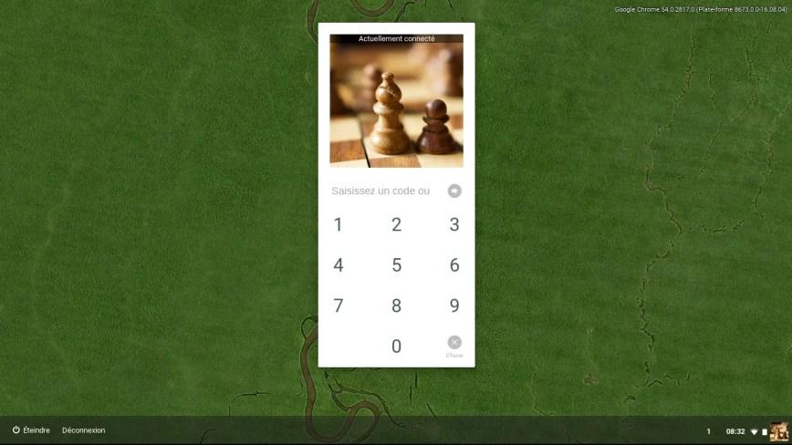 Activer un code PIN  pour accéder à votre Chromebook
