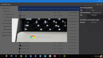 Accélérer la prévisualition des fichiers sous Chrome OS et Chromebook