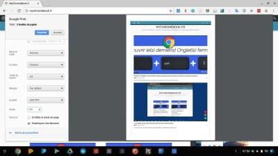 l'impression de documents sur Chromebook s'améliore encore