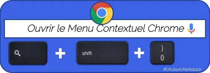 Ouvrir le menu contextuel sans souris sur ChromeOS  #UnJourUneAstuce