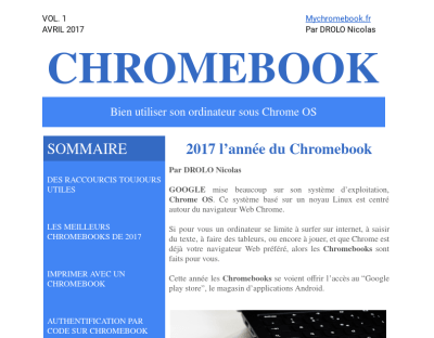 Chromebook Vol.1 Avril 2017