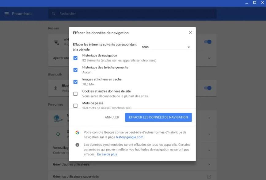 Comment vider le cache mémoire sur #Chrome et #Chromebook
