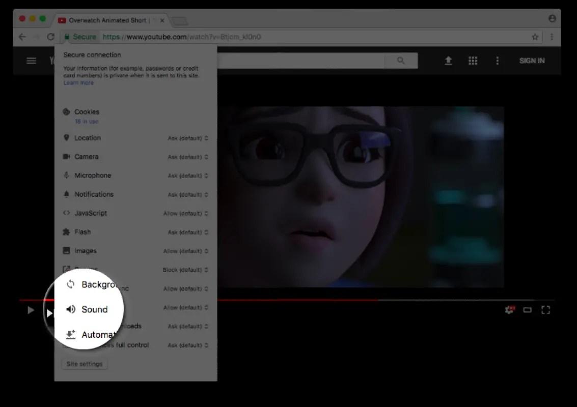 Couper définitivement le son d'un site web sur Chrome